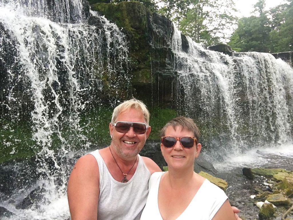 Selfie vid Keila vattenfall