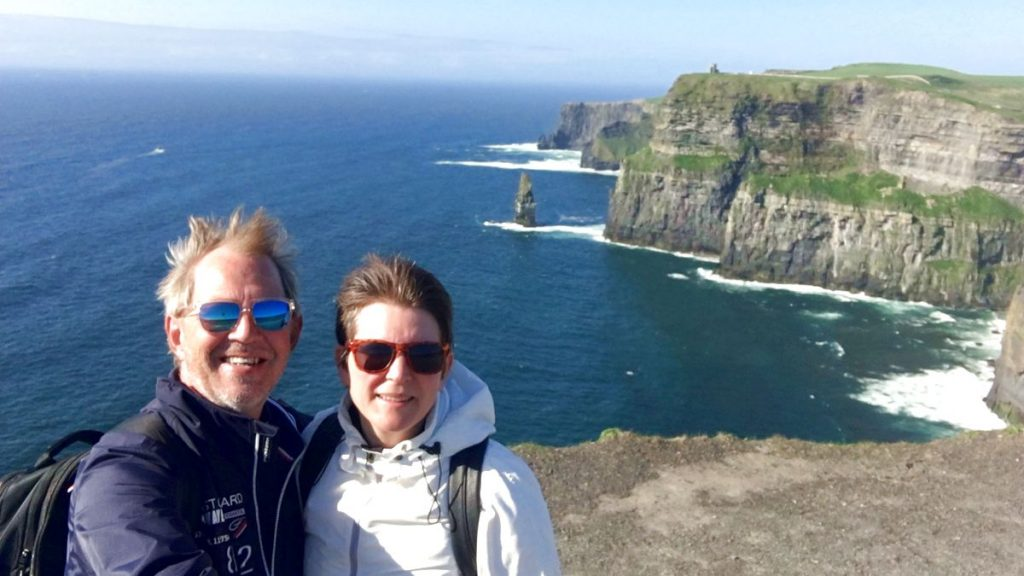 Selfie vid Cliffs of Moher