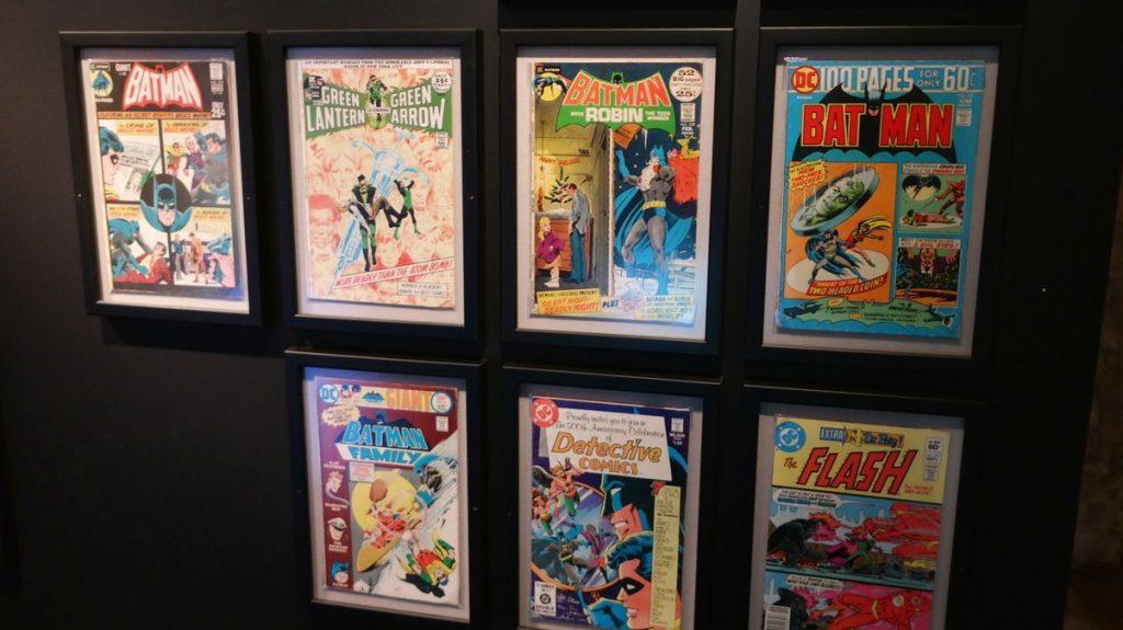Serietidningar i museum i Bergrummet