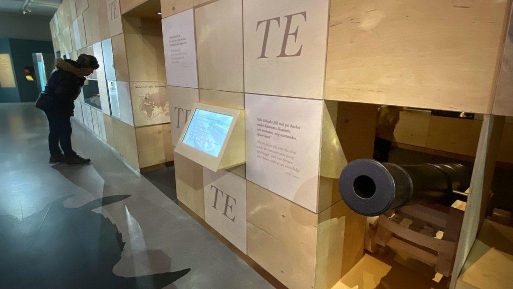 Resenärerna på Sjöhistoriska museet i Stockholm