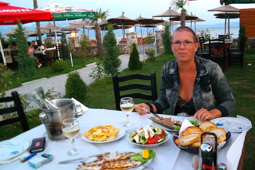 Camping Erlin vid Ohridsjön i Albanien