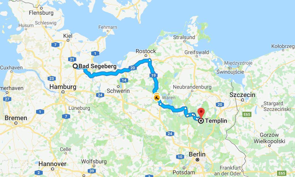 Från Bad Segeberg till Templin