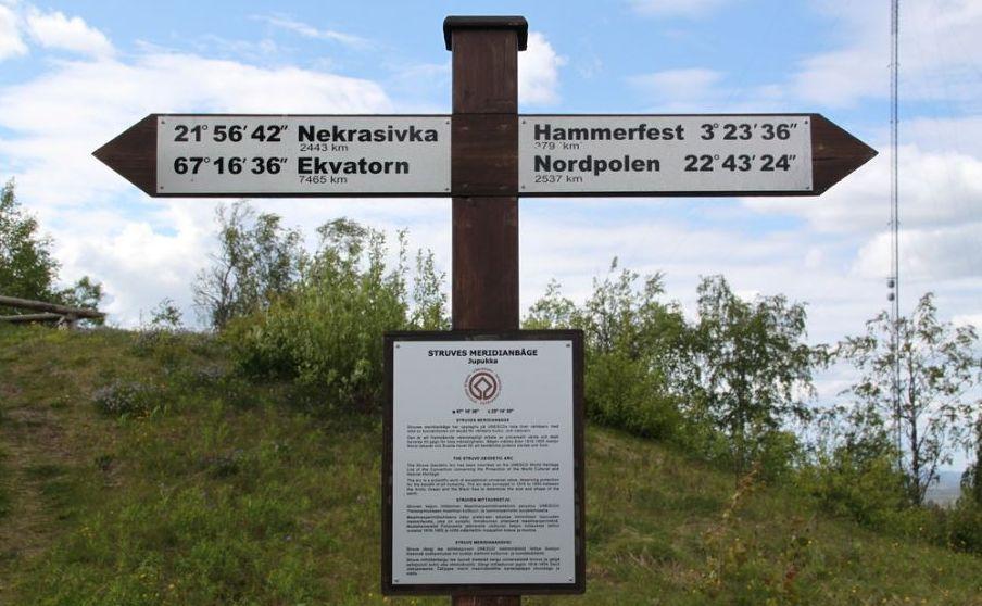 Unesco världsarv i Sverige: Struves meridianbåge