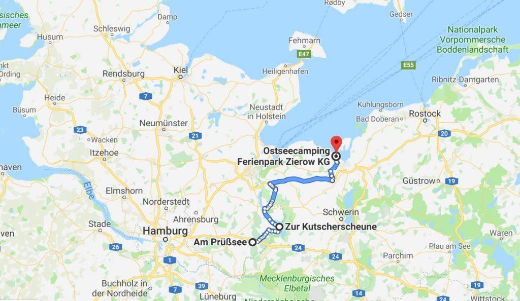 Karta Tysklandsresa