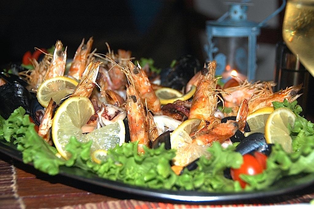 Skaldjursplatå restaurang Guvat
