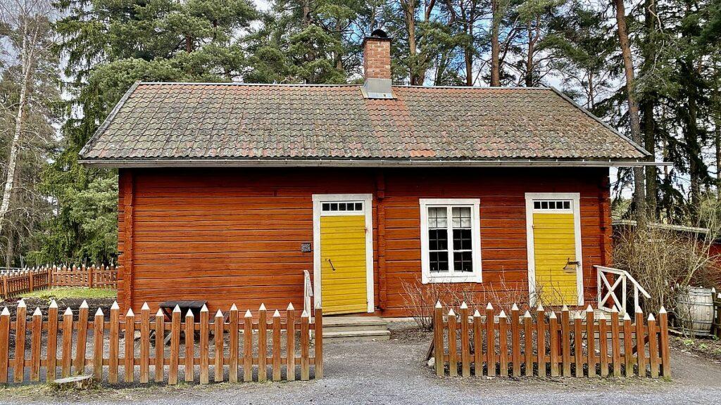 Skolbyggnad på Vallby friluftsmuseum