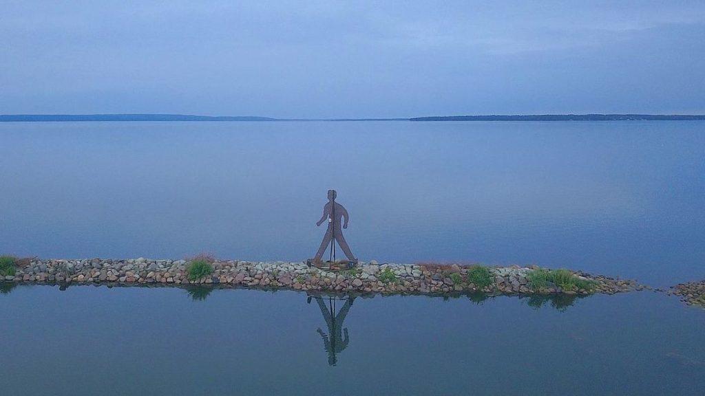 Skulptur vid Bergs slussar - Dubbelgångare
