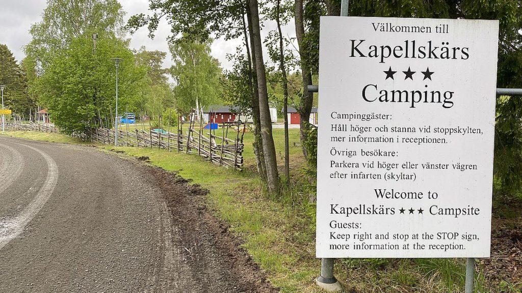 Kapellskärs camping i Riddersholms naturreservat