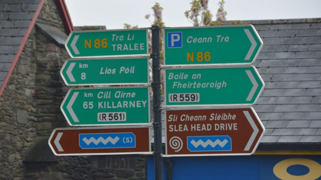 Skyltar Irland