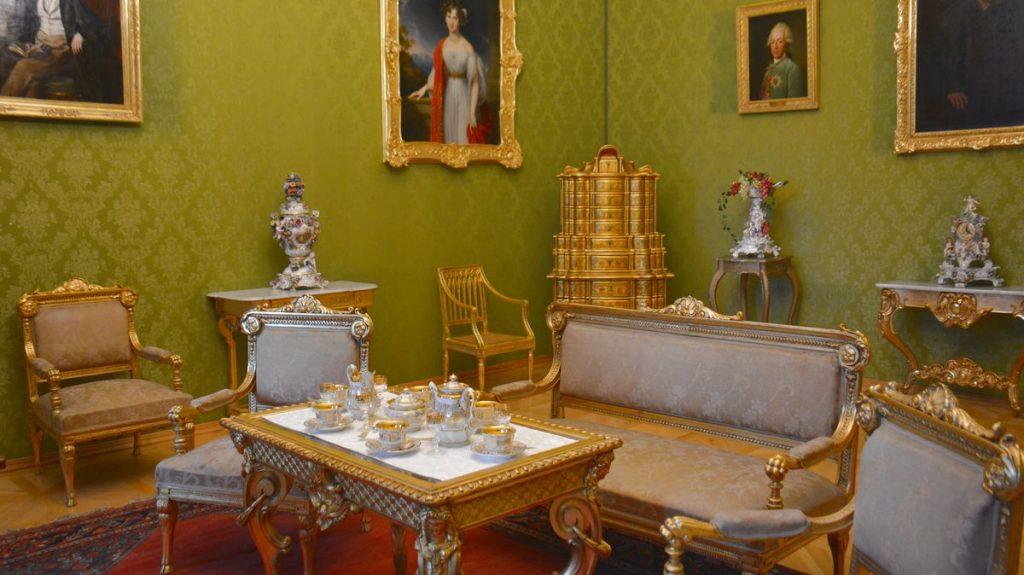 slottsrum på Slottet Kynžvart i Tjeckien