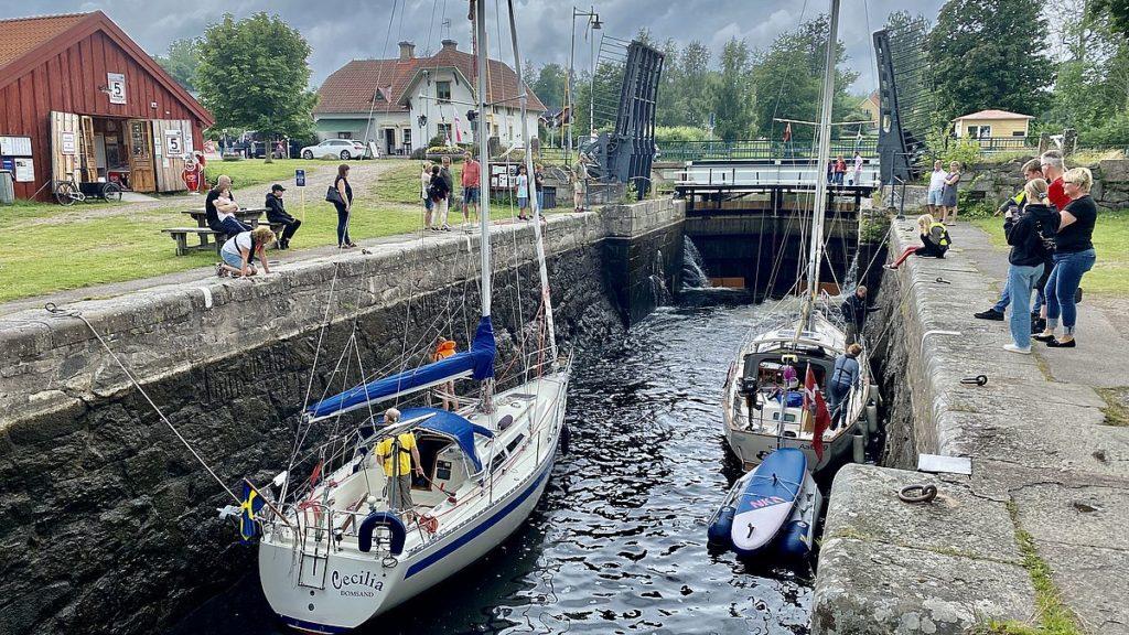 Göta kanal med husbil