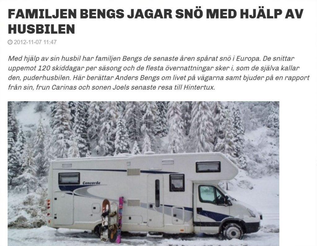 Snö husbil