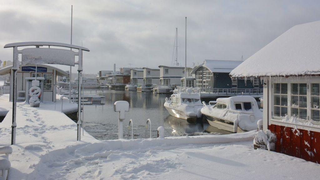 Snö i Stockholm - Pampas marina