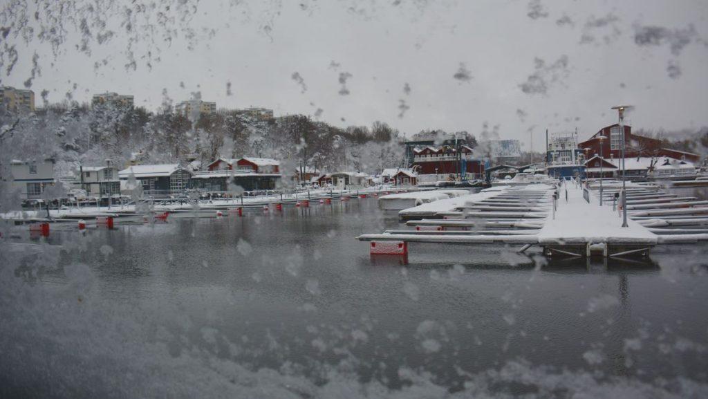 snöoväder i Stockholm