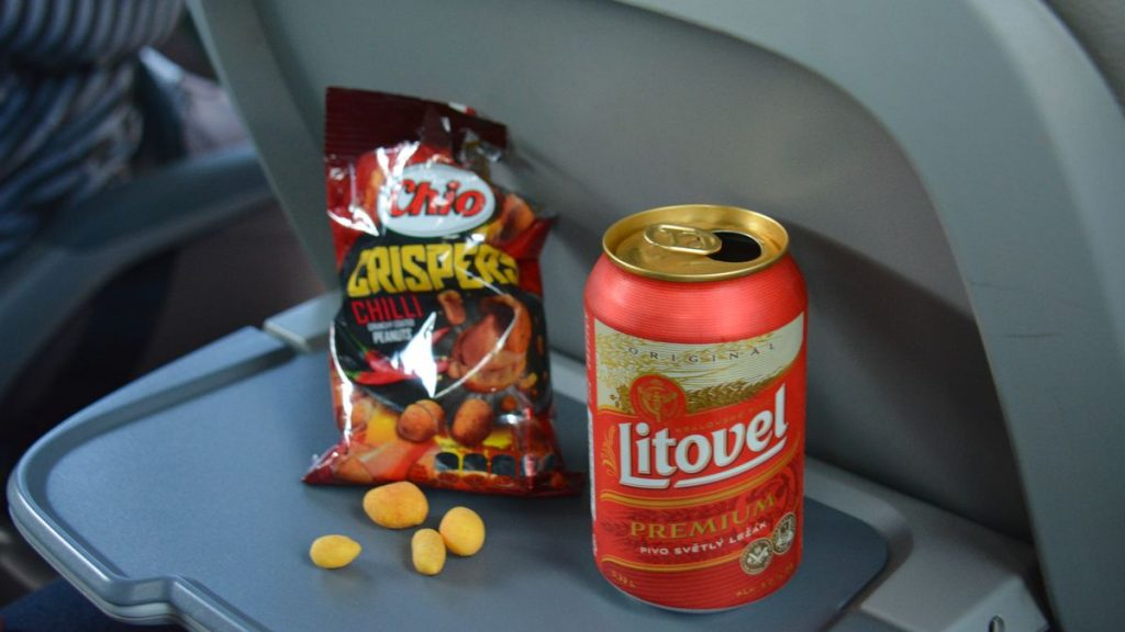 Snacks på bussen