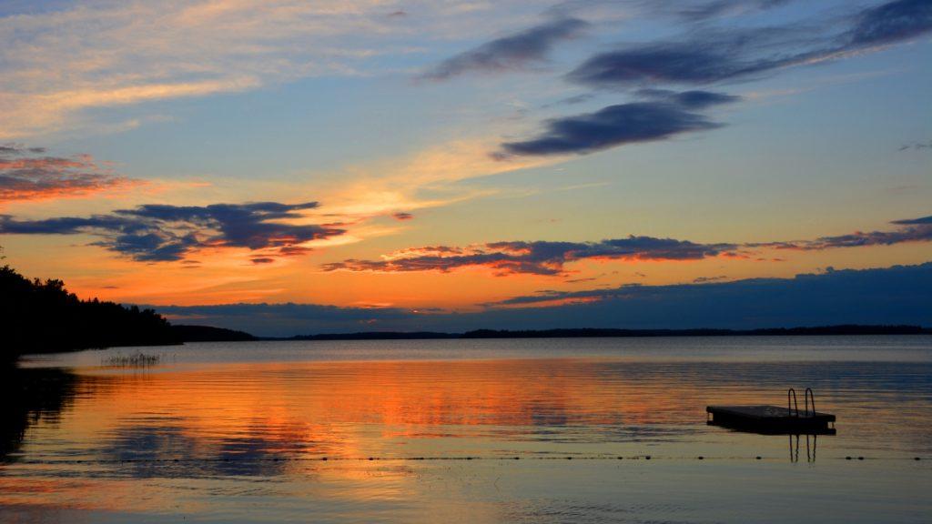 Solnedgång Sverige