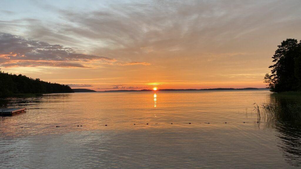 Midsommarafton på Ringsö - solnedgång