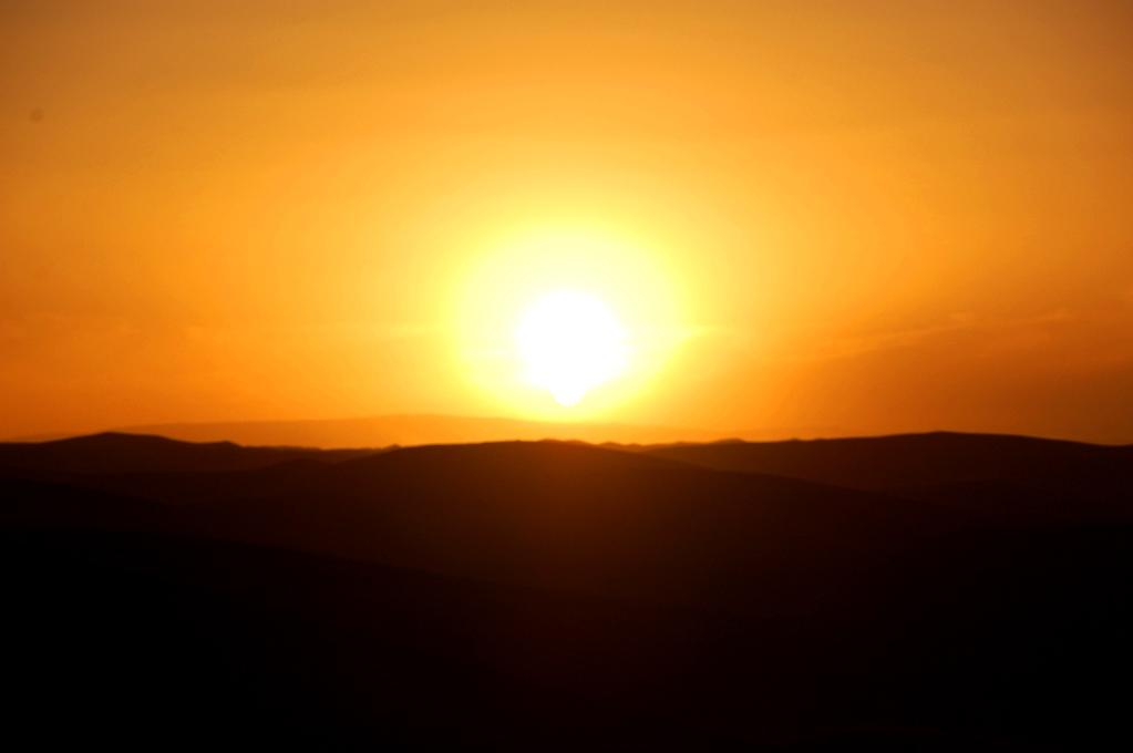 Solnedgång över Sahara