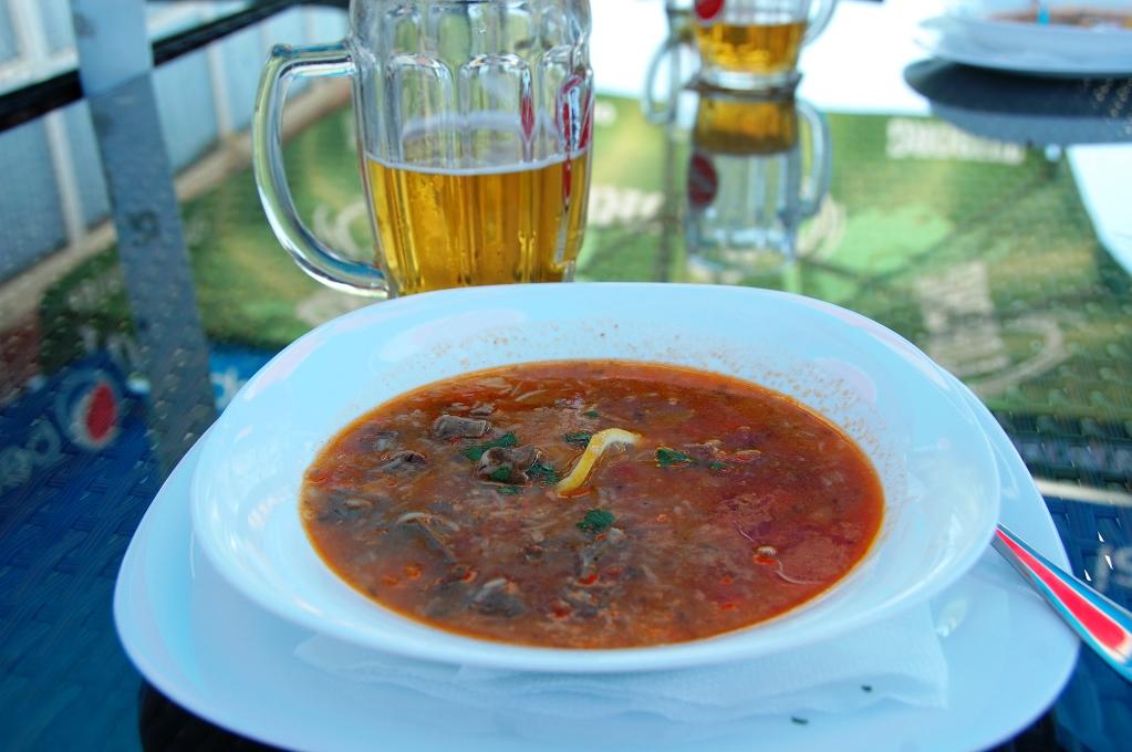 God soppa med lever och hjärta från lamm