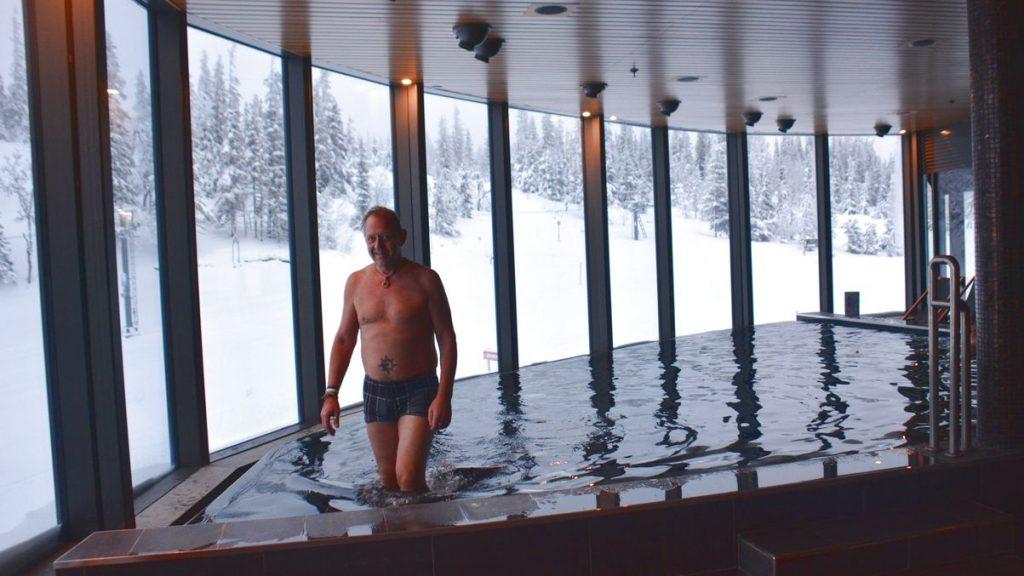 Peter på spahotell i Åre