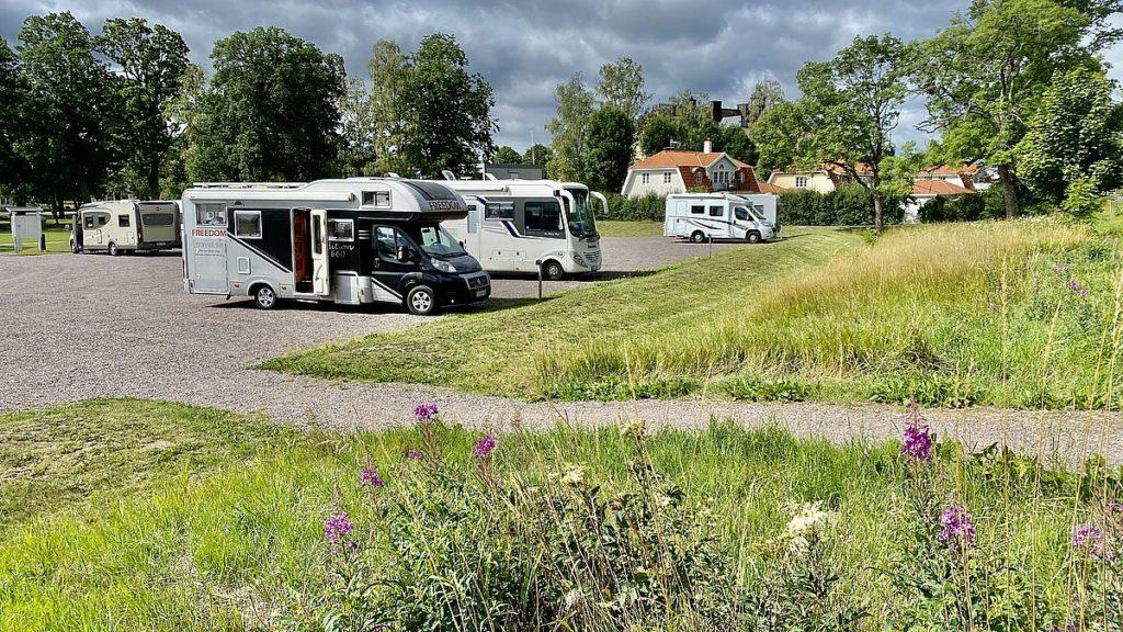 Göta kanal med husbil - ställplats Söderköping