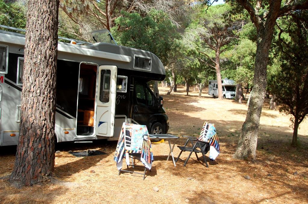Ställplatser på Korsika: Palombaggia