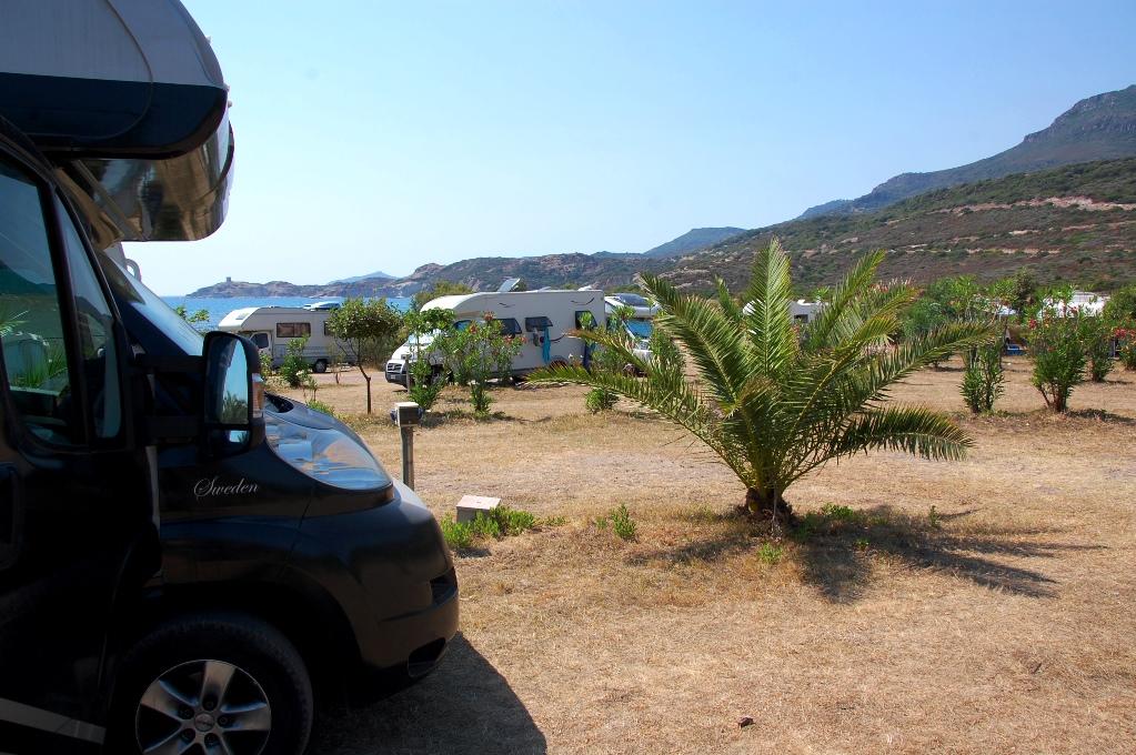Smultronställe på Sardinien. camping strax norr om Bosa