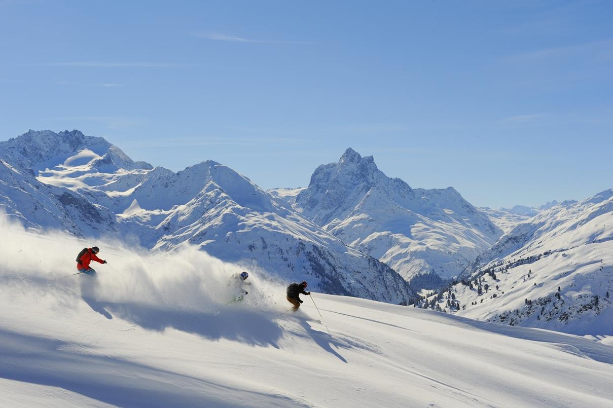 St Anton am Arlberg, bra skidorter i Österrike.