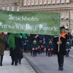 Parad i Stockholm på St Patrick's Day