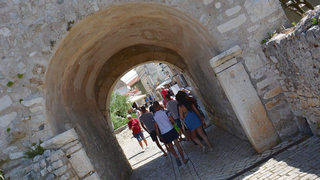 Nin i Kroatien, med världens minsta katedral
