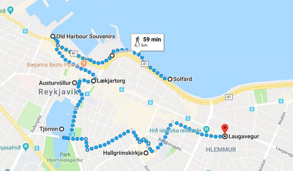 Stadsvandring på egen hand i Reykjavik