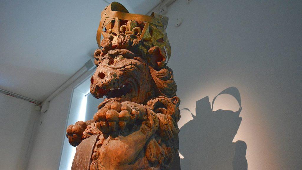 Galjonsfigur på Sjöhistoriska museet i Stockholm