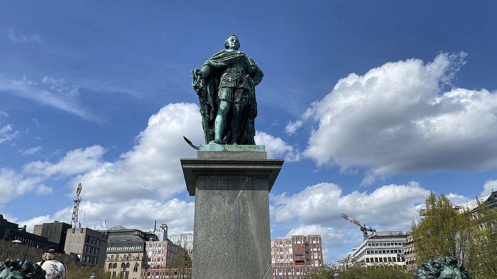 Karl XII i Kungsträdgården i Stockholm