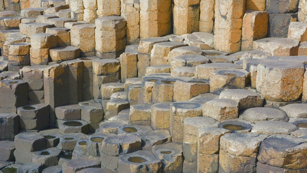 Stenformationerna i Giant's Causeway