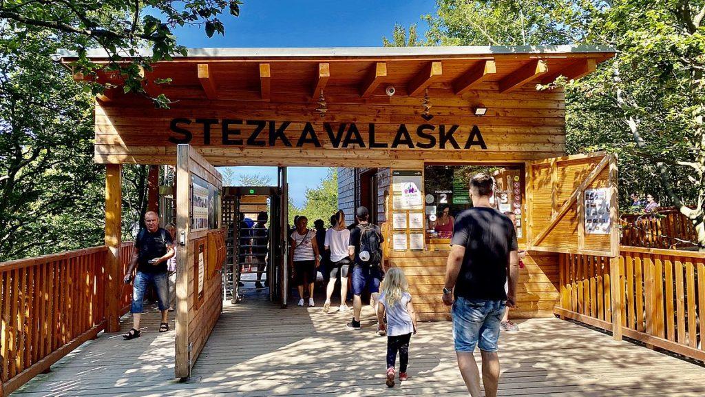 Stezka Valaska - trädtoppsbana i Tjeckien, Pustevny