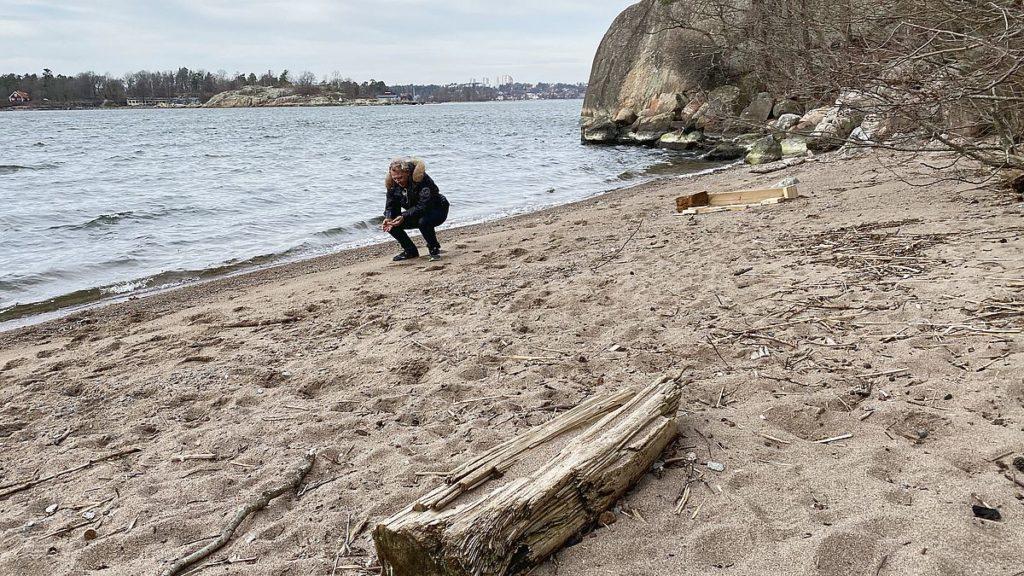 Strand i Nyckelvikens naturreservat