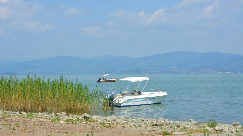 Sjön Trasimeno i Umbrien