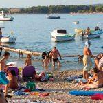 En bra camping vid Pula på Istrien