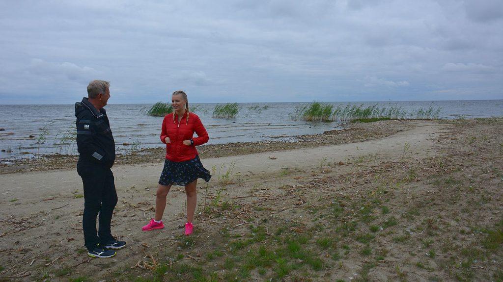 Strand vid sjön Peipus i Estland