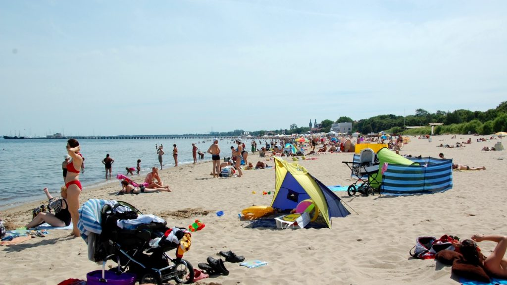 Strandliv i Sopot