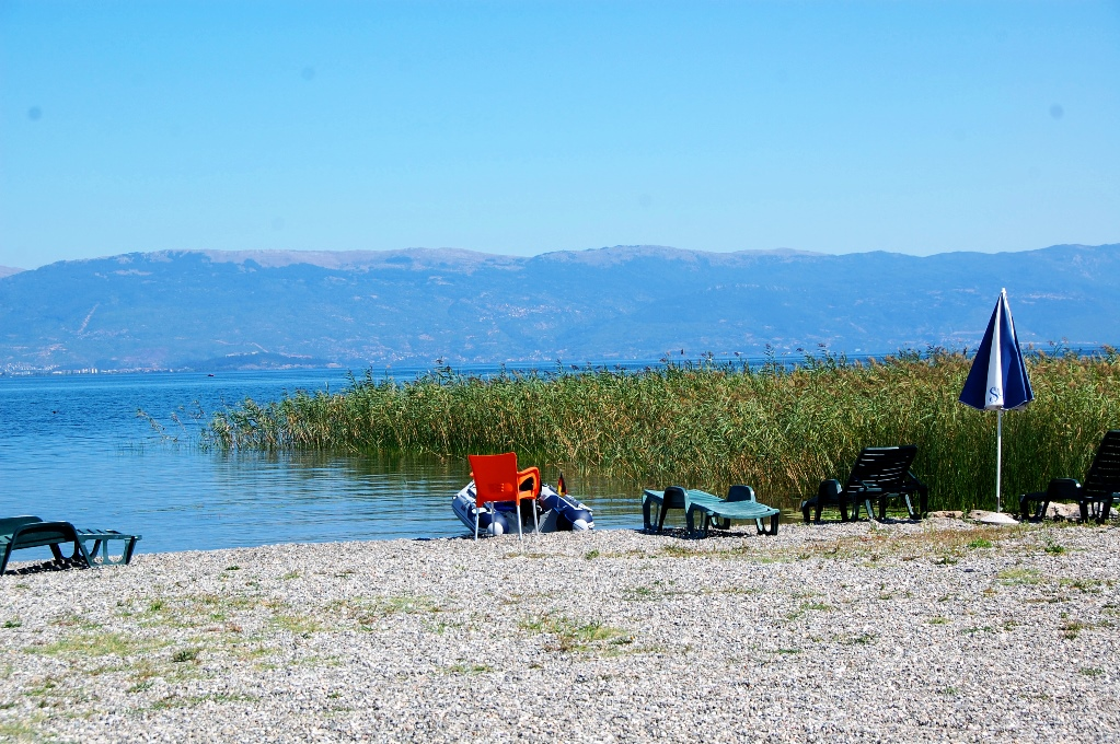 Vid Sunset camping finns en egen liten strand