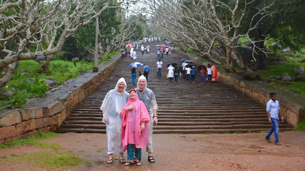 Regnigt i Anuradhapura