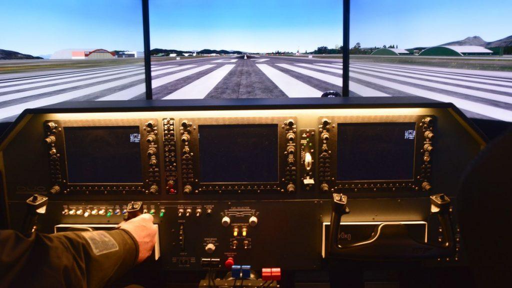 Testa flygsimulator