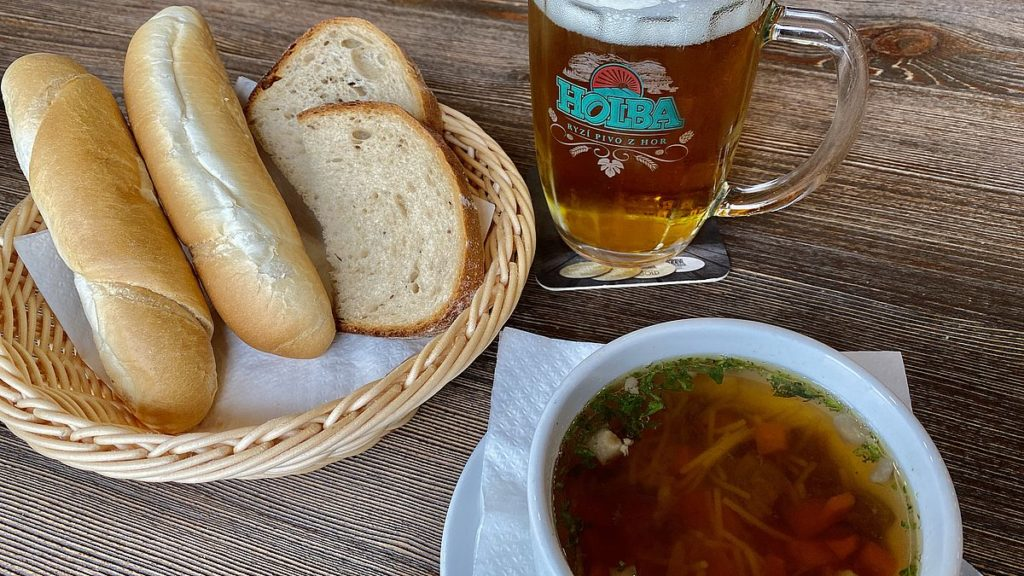 Lunch på berget Praděd