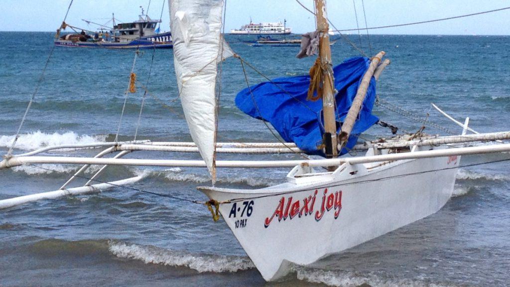 Traditionell båt Filippinerna