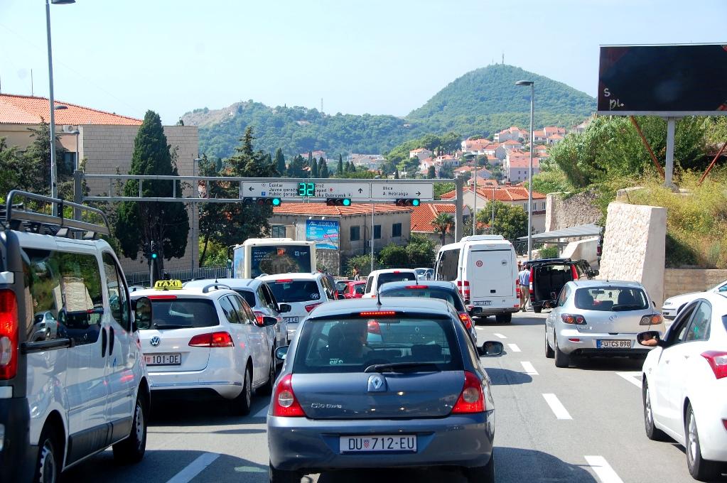 På väg in i Dubrovnik