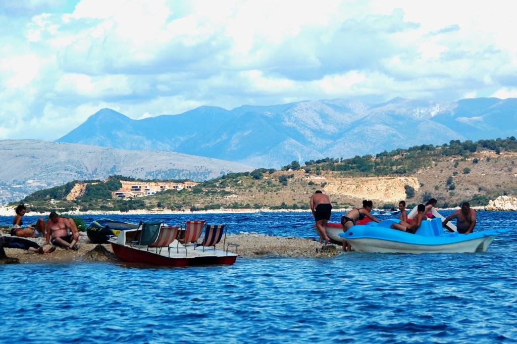 Solsemester i Ksamil, Albanien.