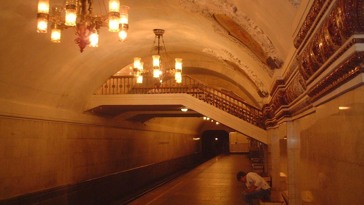 Tunnelbana Moskva Ryssland
