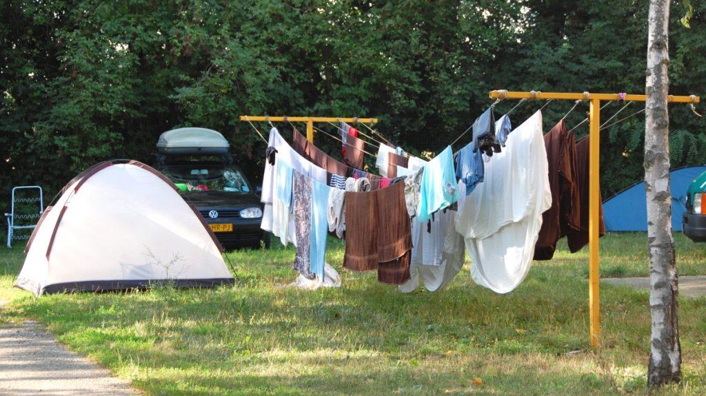 Tvätta på camping
