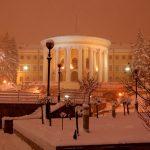 Vinter i Kiev – ett snöigt Ukraina